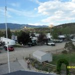 Bird's eye view of Mt Princeton RV Park & Cabins in Buena Vista, where you can bring your RV or stay in our cabins