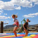 Family fun jumping pad at River Run RV Resort in Granby Colorado