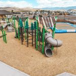 Playground and jumping pad for family fun at River Run RV Resort in Granby Colorado