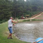 Fishing pond Colorado Heights Camping Resort in Monument Colorado!