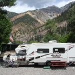 In town; walking distance to hot springs in Ouray, Colorado at 4j+1+1 RV Park and Campground