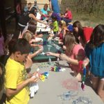 Kids craft tie-dye shirts -- Colorado Heights Camping Resort in Monument Colorado!