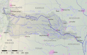 Arkansas River basin map By Shannon1 - Own work, CC BY-SA 4.0, https://commons.wikimedia.org/w/index.php?curid=79039596