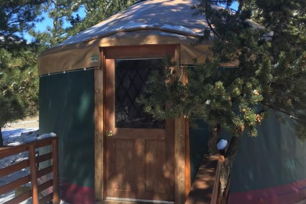 Arrowhead Point Campground & Cabins glamping yurt rental in Buena Vista Colorado