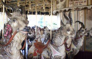 Billy Goats Gruff on Kit Carson Carousel by Roxie Yonkey (RoxieontheRoad.com)