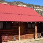 One of many beautiful cabins to choose from at Dolores River Campground