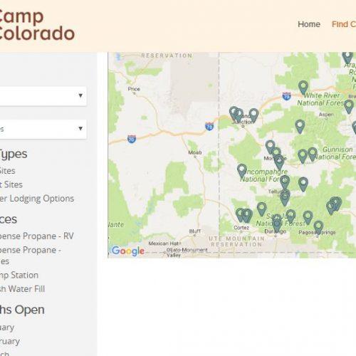 Colorado map with pins