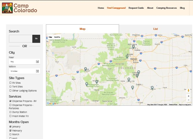 Locating Services As You Pass Through Colorado