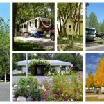 Collage of pictures from Uncompahgre River RV Park in Olathe Colorado