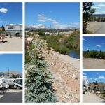 Collage of pictures of Middlefork RV Park in Fairplay Colorado