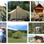 Collage of scenes at Aspen Acres Campground in Rye CO