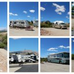 Collage of scenes at Middlefork RV Park in Fairplay Colorado