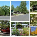 Collage of scenes from Uncompahgre River RV Park in Olathe Colorado