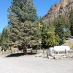Propane dispensing station at Ouray Riverside Resort in Ouray Colorado