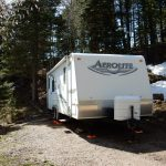 RV at Aspen Acres Campground in Rye CO