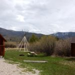 Tepee being built at Elk Creek Campground & RV Park in Grand Lake CO