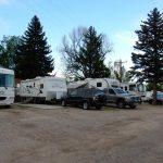 RV sites at Fireside Cabins and RV Park in Loveland CO