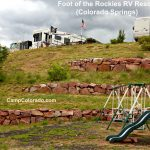 Foot of the Rockies RV Resort in Colorado Springs offers RV sites and several cabin rentals