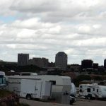 RV sites overlooking the city at Rockies RV Resort & Storage, Colorado Springs CO
