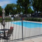 Pool outside of the rec hall at Loveland RV Resort (Loveland Colorado)