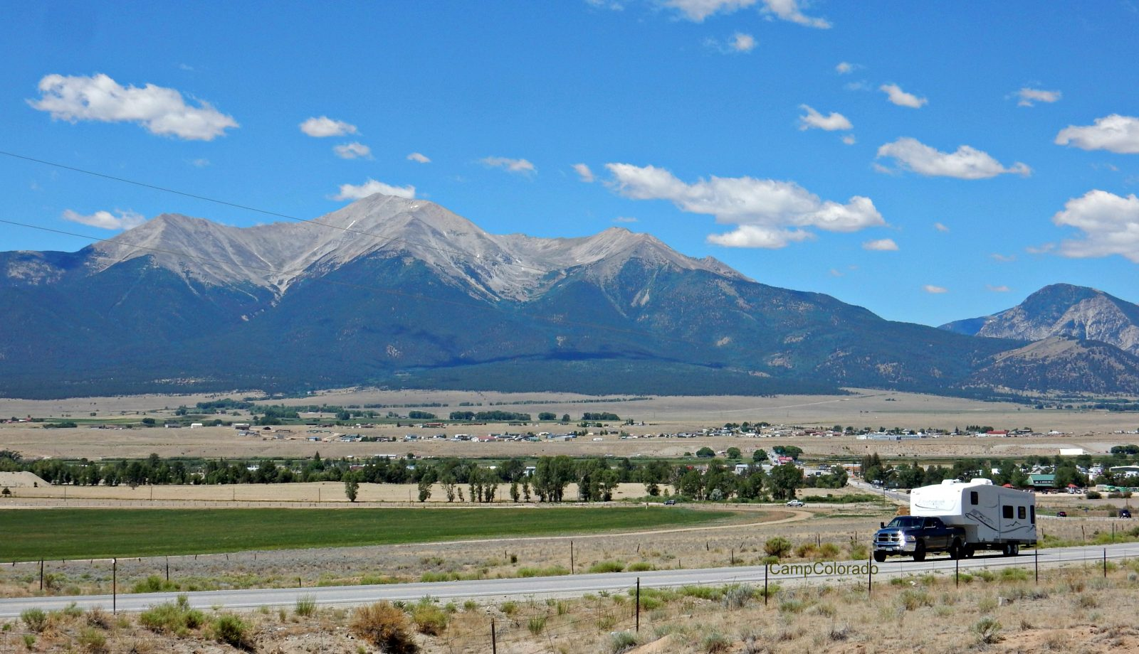Traveling by RV near Buena Vista Colorado