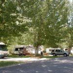 RVs at Uncompahgre River RV Park in Olathe Colorado