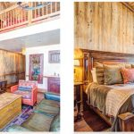 Interior shots of vacation rental cabin at Devil's Thumb Ranch in Tabernash CO