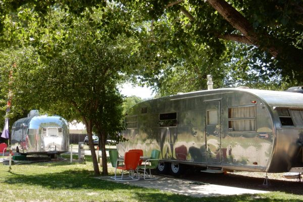 Dolores River Campground Vintage trailer rental in Dolores CO