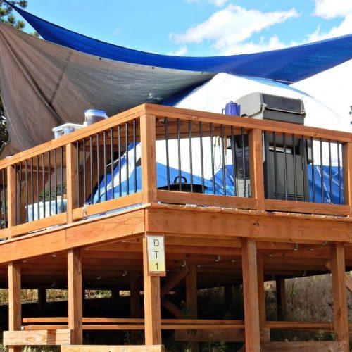 Estes Park KOA tent deck