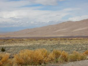 Great Sand Dunes National Park in the distance, near Alamosa CO