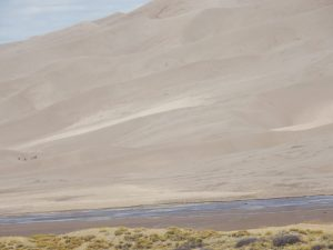 Zoomed in to show people at Great Sand Dunes National Park, near Alamosa CO