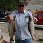 Great fishing at Blue Mesa Reservoir when you stay at Gunnison Lakeside RV Park and Cabins in Colorado