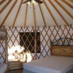 Inside a yurt!