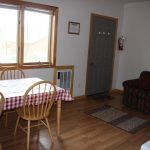 Living area of cabin camping option at Blue Mesa Escape, west of Gunnison Colorado