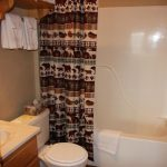 Bathrooms all have tub, shower, toilet, sink. (camping option at Blue Mesa Escape, west of Gunnison Colorado)