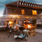 Jellystone Larkpsur RV campsite and campfire