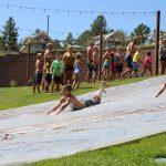 Jellystone Larkpsur kids at play sliding