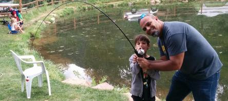 Fishing at Lone Duck Campground (Cascade Colorado)