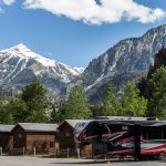 RV and cabins at Ouray Riverside Resort in Ouray Colorado
