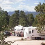 View of Pikes Peak from Colorado Heights Camping Resort in Monument Colorado!