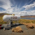 Propane station at Blue Mesa Outpost in Gunnison CO