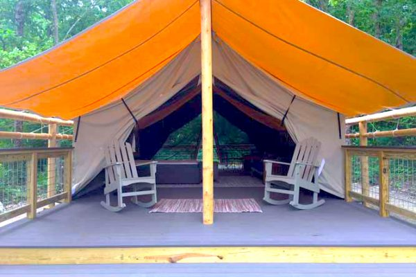 River Run Resort Glamping safari tent in Grand Lake CO