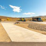 Pull through RV site at River Run RV Resort in Granby CO