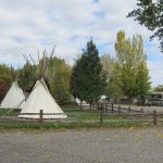 Riverbend RV Park and Cabins in Montrose Colorado tepees
