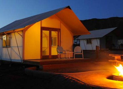 Royal Gorge Cabins & Glamping Safari glamping canvas rental tent in Canon City Colorado