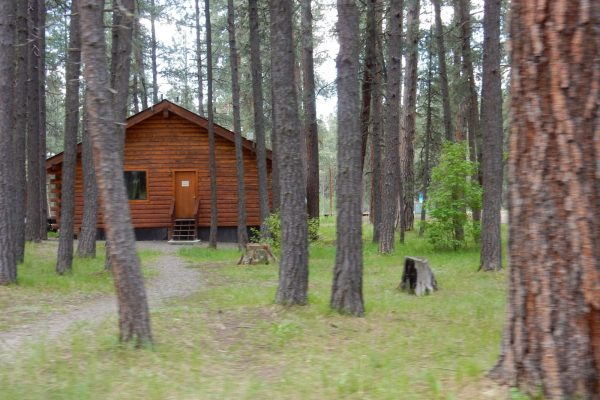 A rental cabin at Sportman's Campground & Mountain Cabins in Pagosa Springs CO