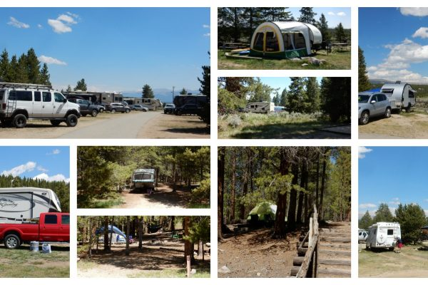 Sugar Loafin RV Campground in Leadville Colorado collage of scenes