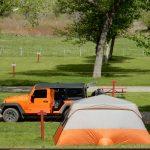 Tent site at United Campground of Durango