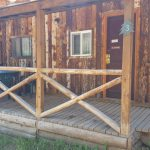 Front porch of a cabin - The Lodge at San Isabel in Rye Colorado offers your vacation rental cabins