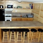 Interior kitchen at The Pine Lodge in Rye Colorado